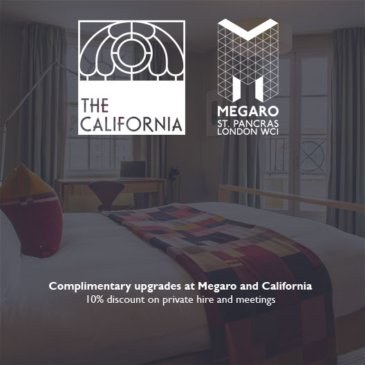 Complimentary upgrades at Megaro and California 10% discount on private hire and meetings