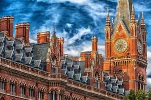 View of St Pancras station from Megaro hotel King's Cross